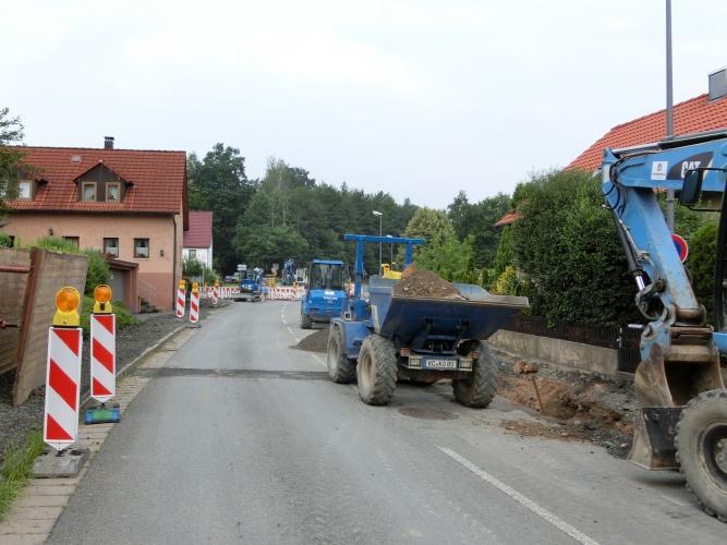 Bauarbeiten OD Altenplos Bild 2