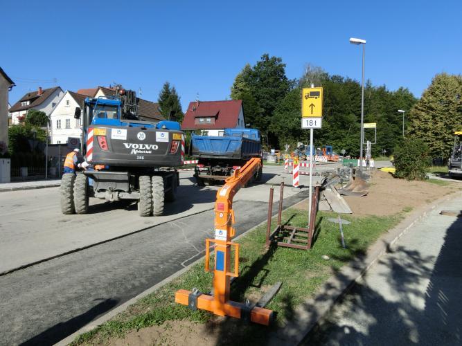 Bauarbeiten OD Altenplos Bild 7
