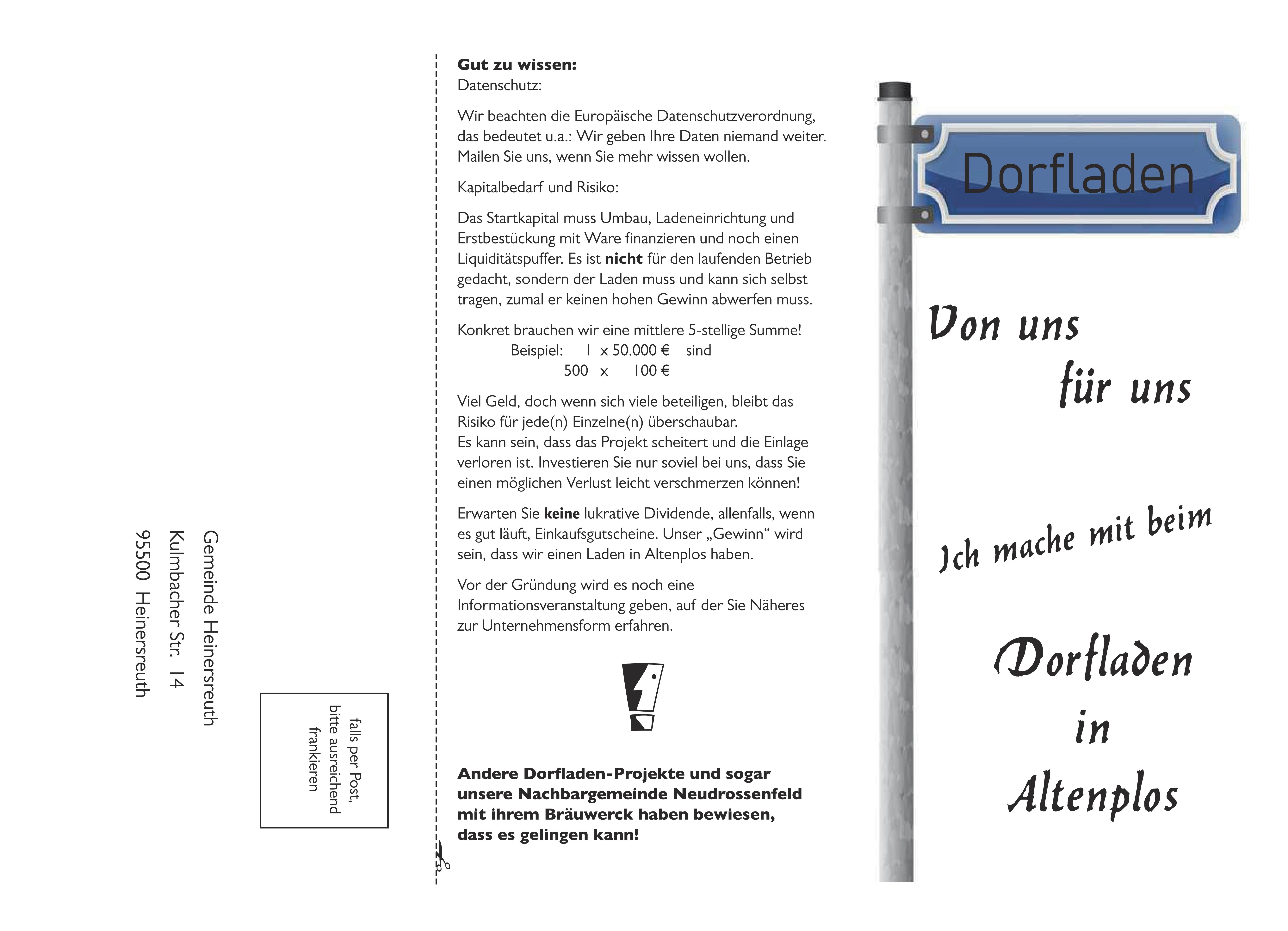 Flyer Dorfladen Bild 2